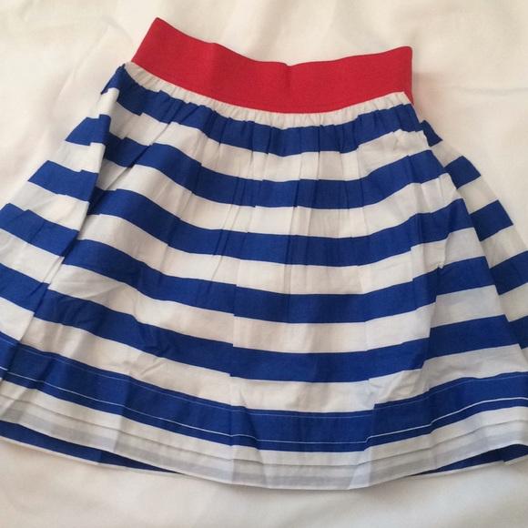 Mini Boden Other - Mini Boden Blue & White Stripe Skirt
